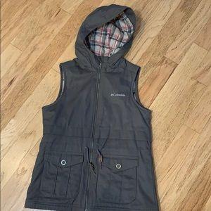 Columbia Sportswear flannel lined vest